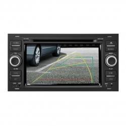 Autoradio tactile GPS Bluetooth standard Ford Kuga,Transit,C-Max,S-Max,Fiesta,Focus,Fusion et Mondéo + caméra de recul