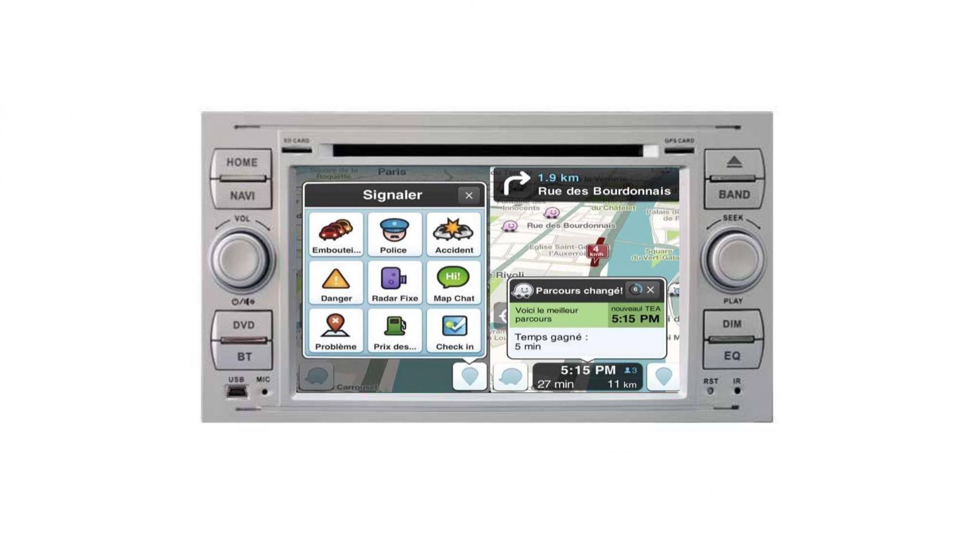 Ford transit kuga c max s max fiesta focus fusion autoradio gps bluetooth android auto carplay camera de recul commande au volant3
