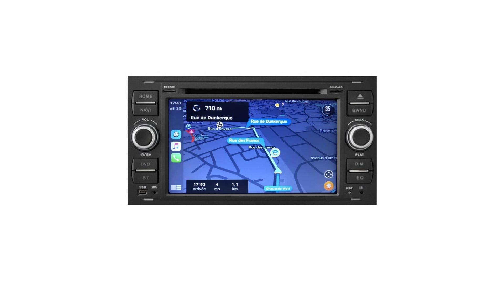 Ford transit kuga c max s max fiesta focus fusion autoradio gps bluetooth android auto carplay camera de recul commande au volant4 1
