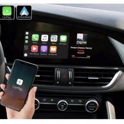 Boîtier Apple Carplay & Android Auto sans fil pour Alfa Romeo Giulia à partir de 2016