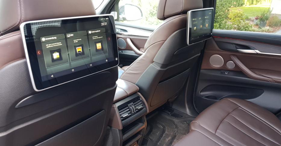 Headrest monitor for audi appui tete android car tv 19 7