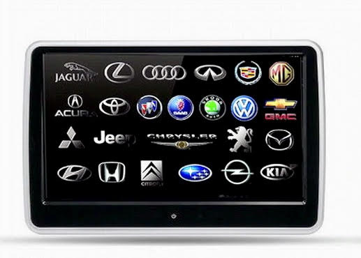 Headrest monitor for audi appui tete android car tv 2 7