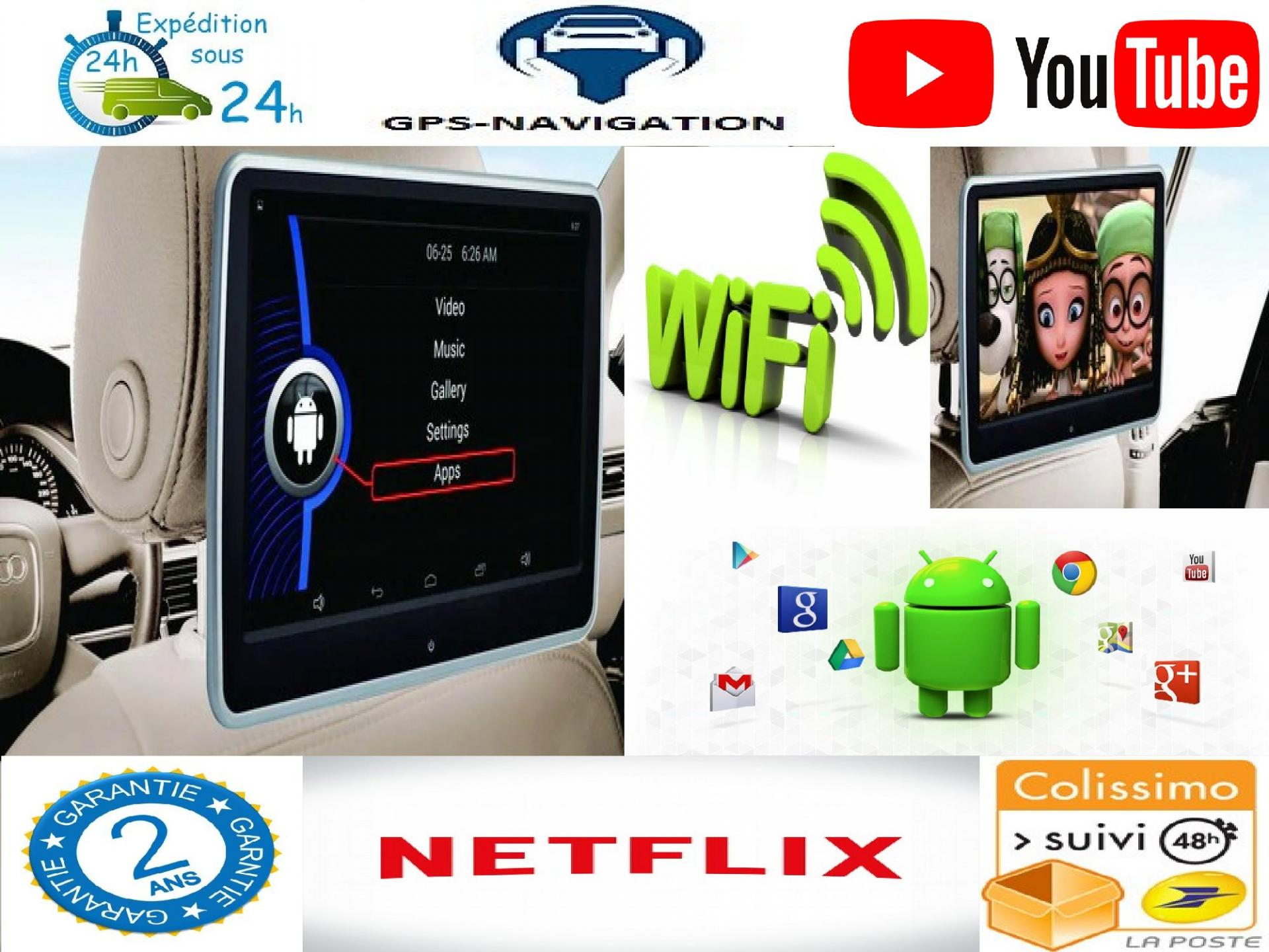 Headrest monitor for audi appui tete android car tv 5 7