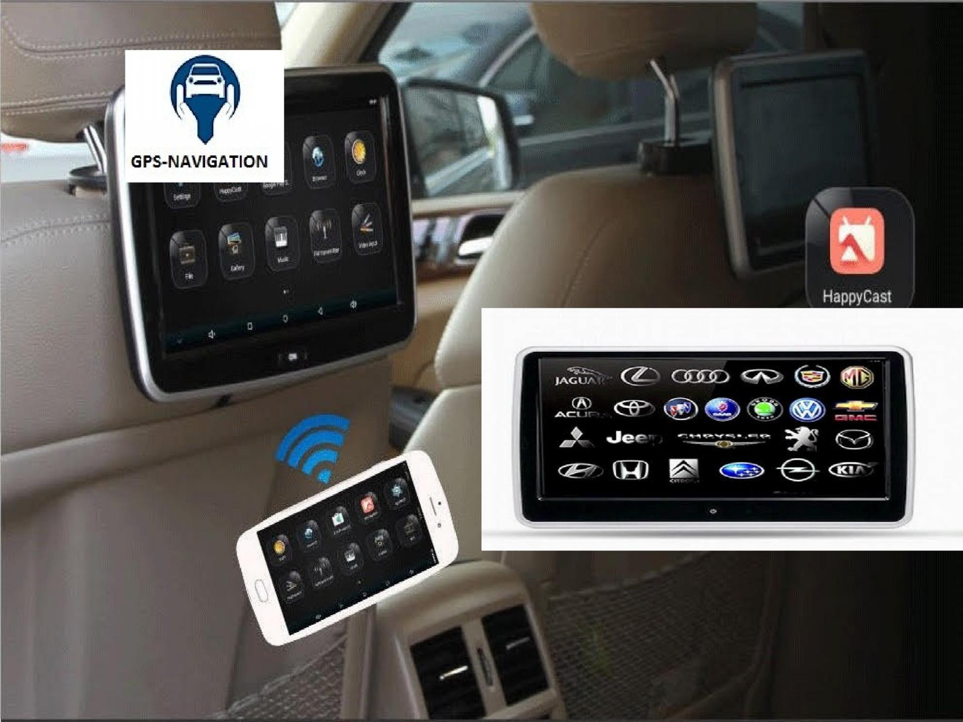 Headrest monitor for audi appui tete android car tv 6