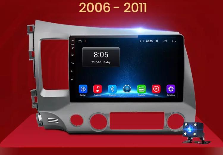 Honda civic autoradio gps bluetooth autoradio gps android camera de recul commande au volant ipod tv dvbt 3g 4g pas cher wifi 1