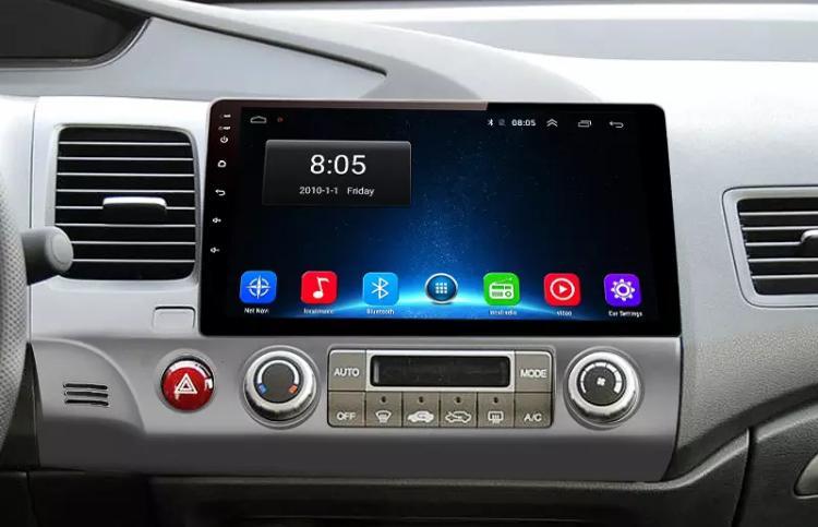 Honda civic autoradio gps bluetooth autoradio gps android camera de recul commande au volant ipod tv dvbt 3g 4g pas cher wifi 2