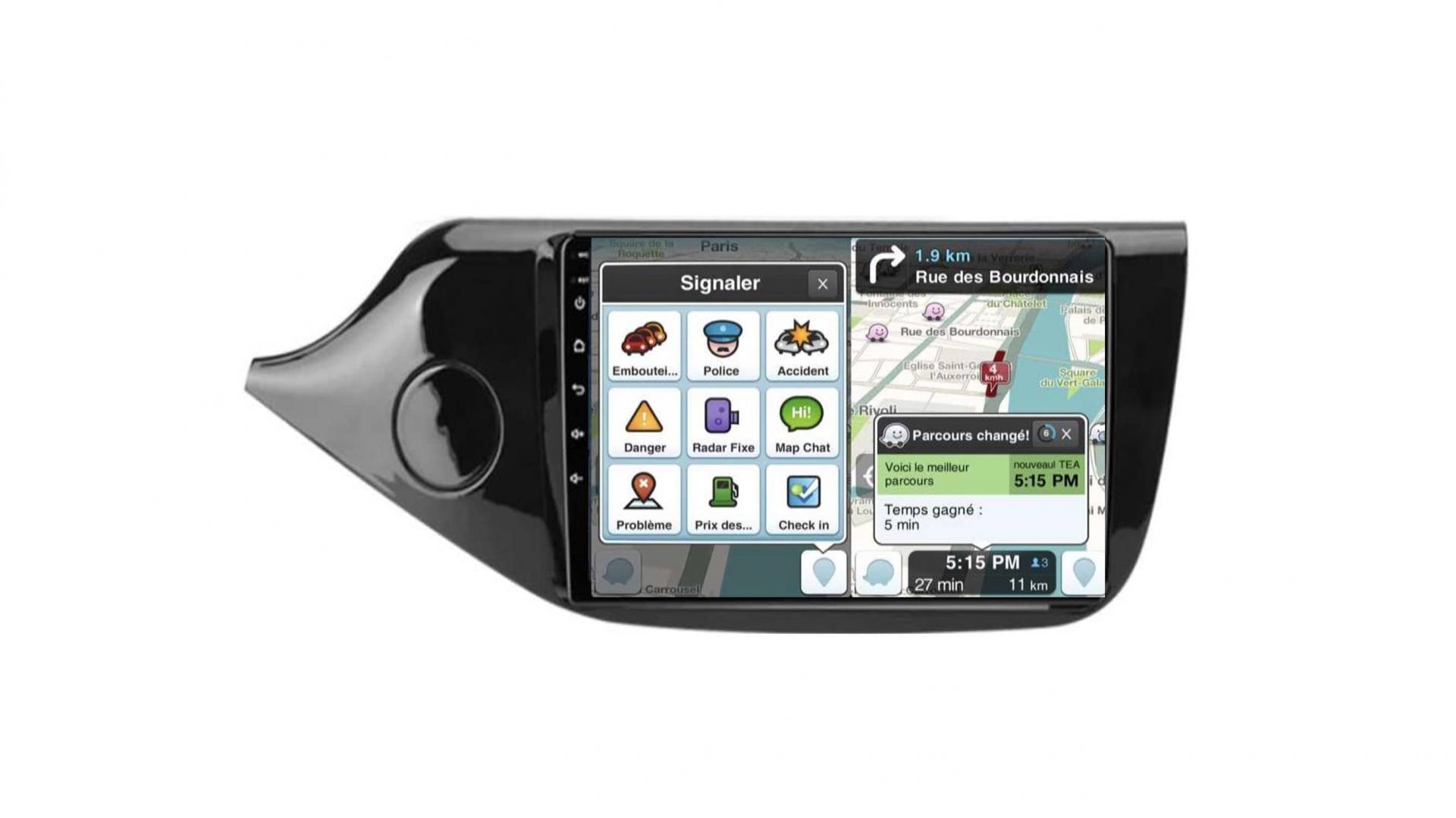 Kia ceed autoradio gps bluetooth android auto carplay camera de recul wifi commande au volant3
