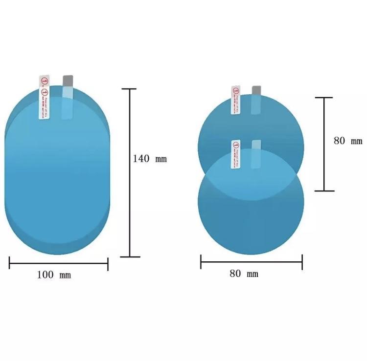 Lot de 2 autocollants antibrouillard antipluie compatible tous ve hicules ame lioration visibilite facile a installer
