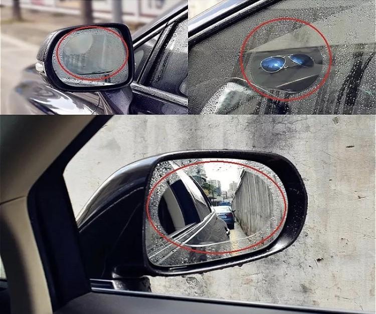 Lot de 2 autocollants antibrouillard antipluie compatible tous ve hicules ame lioration visibilite sticker transparent