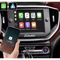 Boîtier Apple Carplay & Android Auto sans fil pour Maserati Ghibli de 2013 à 2016