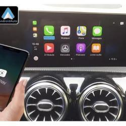 Boîtier Apple Carplay & Android Auto sans fil pour Mercedes A, Classe B, CLA, GLA et GLB à partir de 2019
