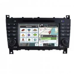 Autoradio Android tactile GPS Bluetooth Mercedes Classe C W203 Phase 2, Classe G, Classe CLC + caméra de recul