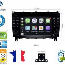 Autoradio Android tactile GPS Bluetooth Mercedes Classe CLS W219 et CLK W209 + caméra de recul