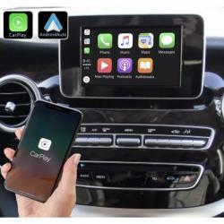 Boîtier Apple Carplay & Android Auto sans fil pour Mercedes Classe X à partir de 2017