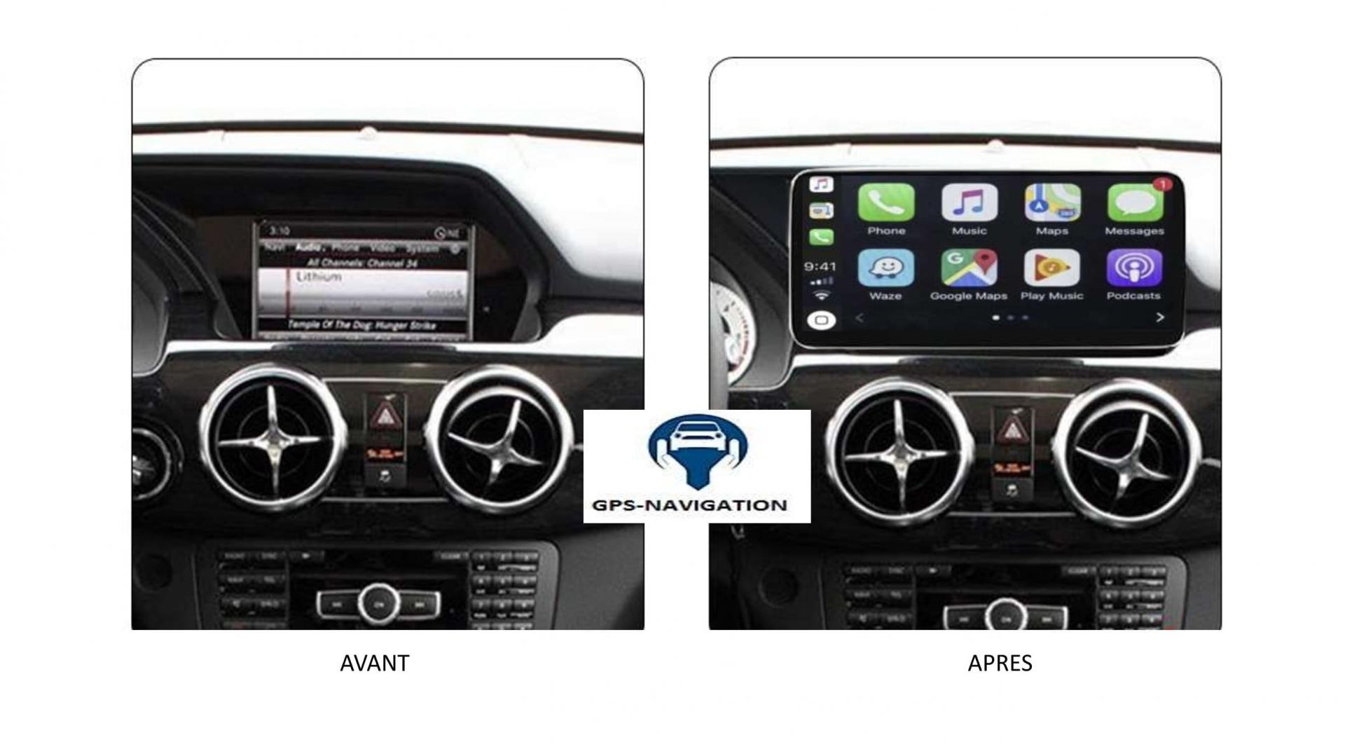 Mercedes glk x204 autoradio gps carplay android auto bluetooth 5