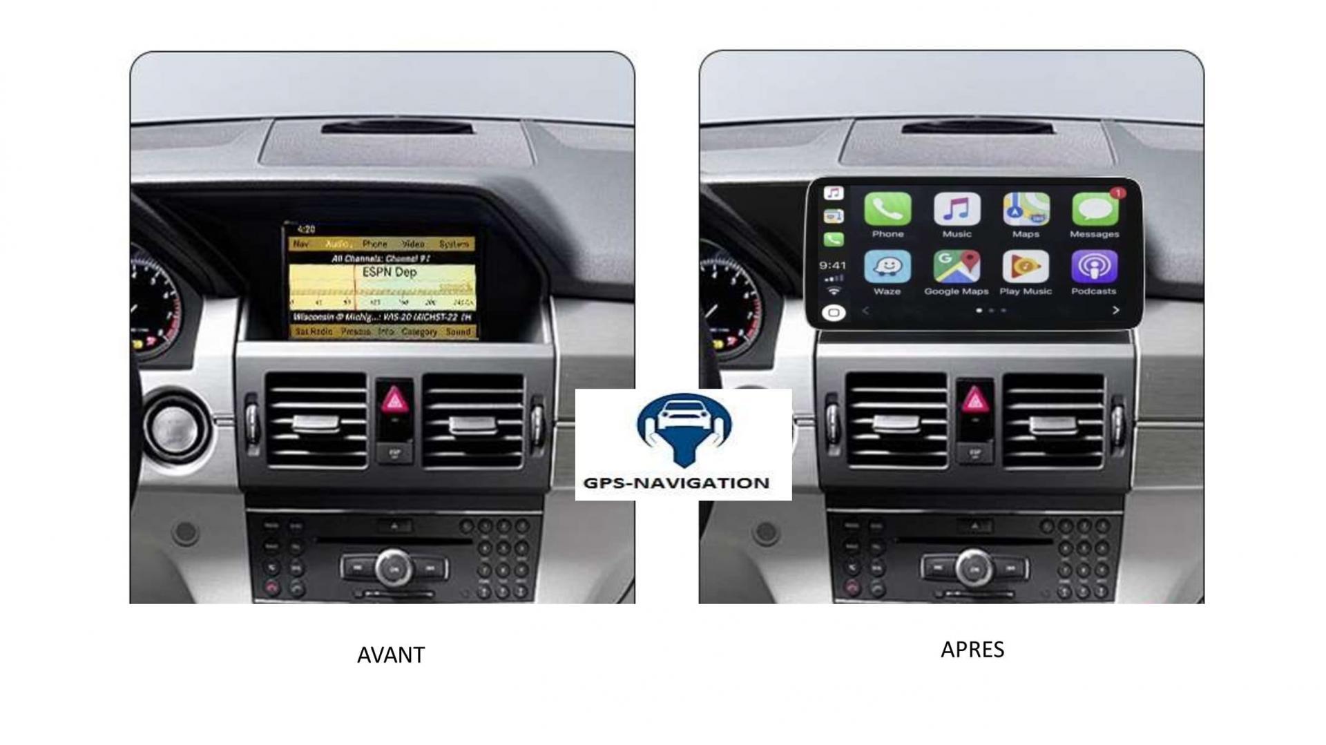 Mercedes glk x204 autoradio gps carplay android auto bluetooth 6