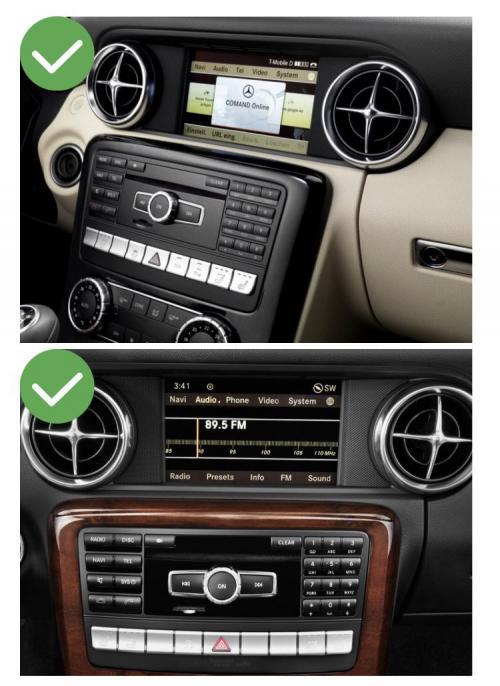 Mercedes slk slc ntg4 0 ntg 5 0 classe c w204 sl r231 carplay android auto gps autoradio f48 x2 f39 2010 2011 2012 2013 2014 2015 2016 2017 2018 2019 serie 1 serie 3 e90 serie 5 e6