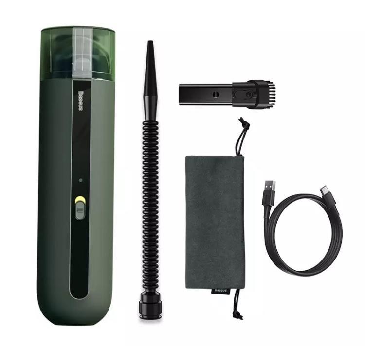 Mini aspirateur couleur vert pour voiture entretien nettoyage souffleur cendre cigarette miette salete poussie re
