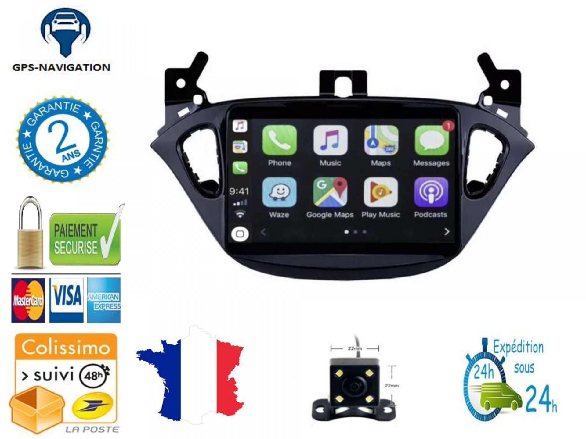 Opel adam corsa autoradio gps carplay android auto gps bluetooth 10