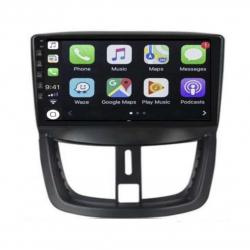 Autoradio Android full tactile GPS Bluetooth Peugeot 206+, 207, 207 CC, 207 SW + caméra de recul