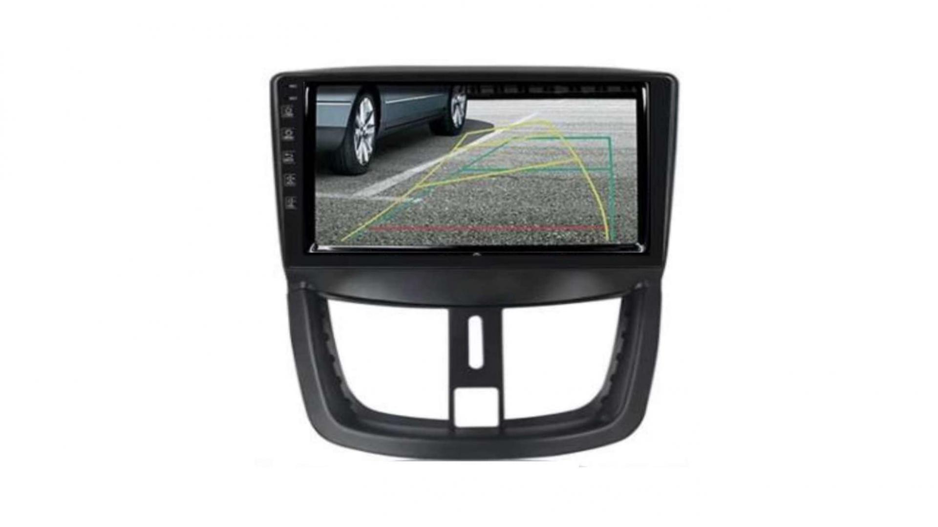 Peugeot 206 207 3008 5008 408 rcz autoradio gps bluetooth android auto carplay camera de recul commande au volant3