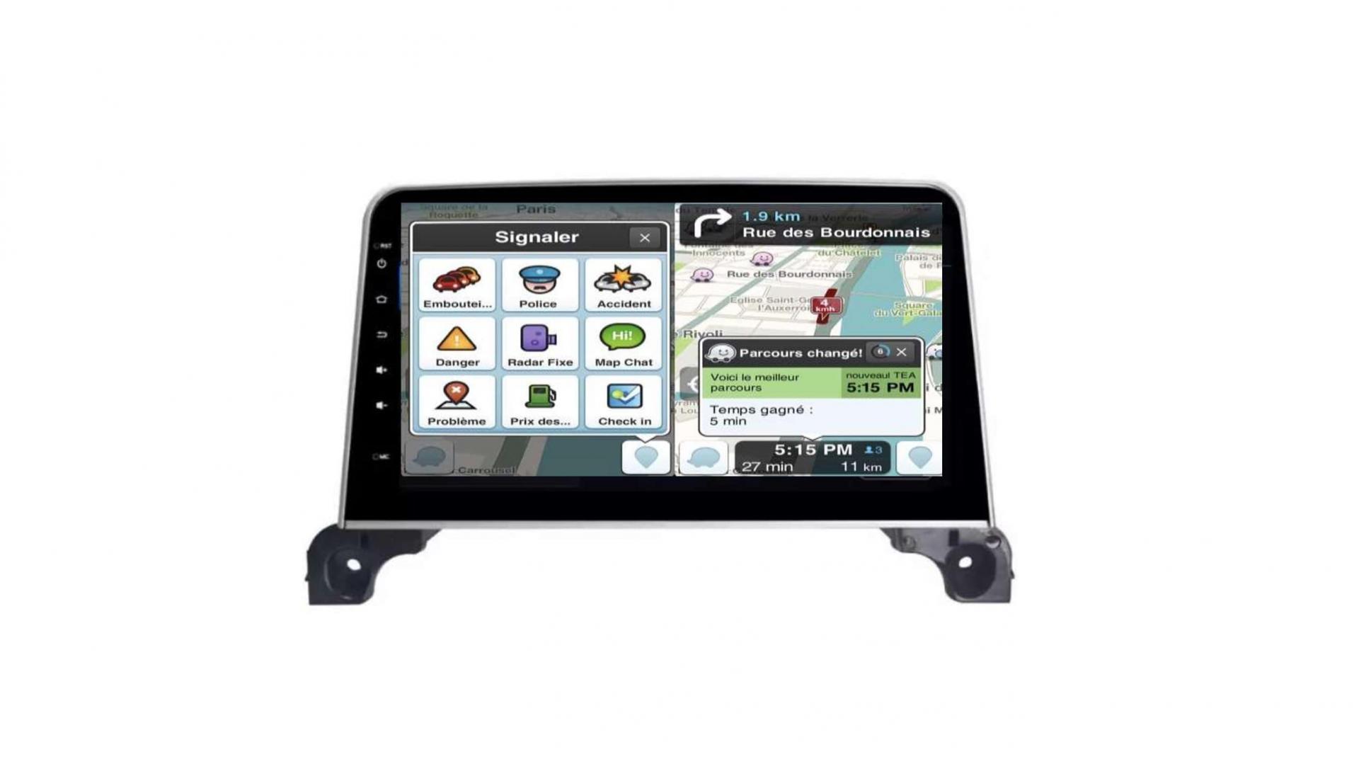Peugeot 3008 5008 408 rcz autoradio gps bluetooth android auto carplay camera de recul commande au volant43