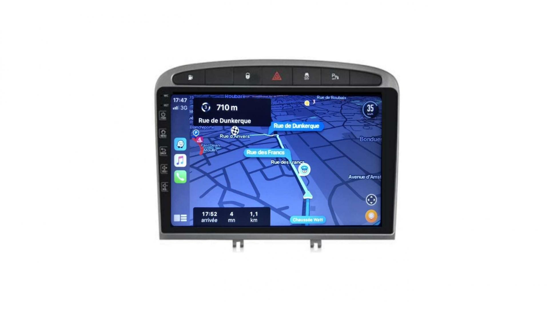 Peugeot 308 408 rcz autoradio gps bluetooth android auto carplay camera de recul commande au volant43