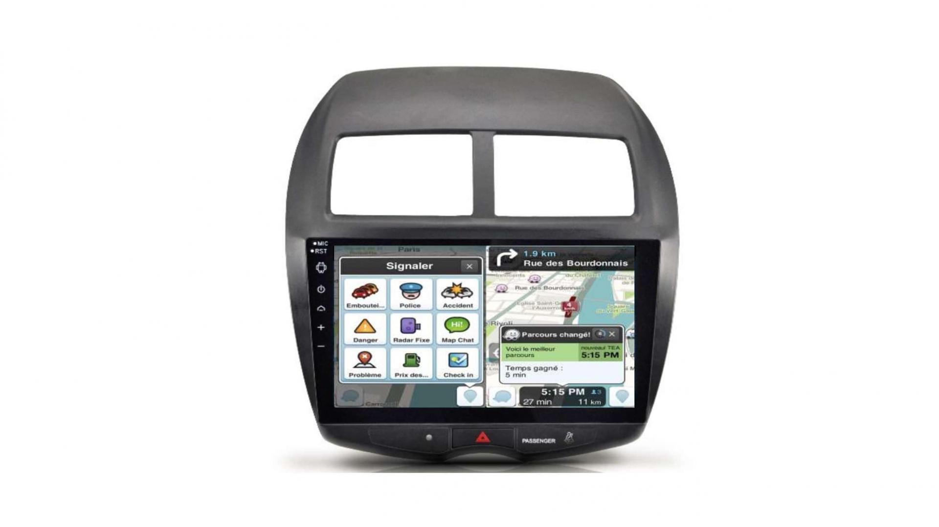 Peugeot 4008 206 207 3008 5008 408 rcz autoradio gps bluetooth android auto carplay camera de recul commande au volant3