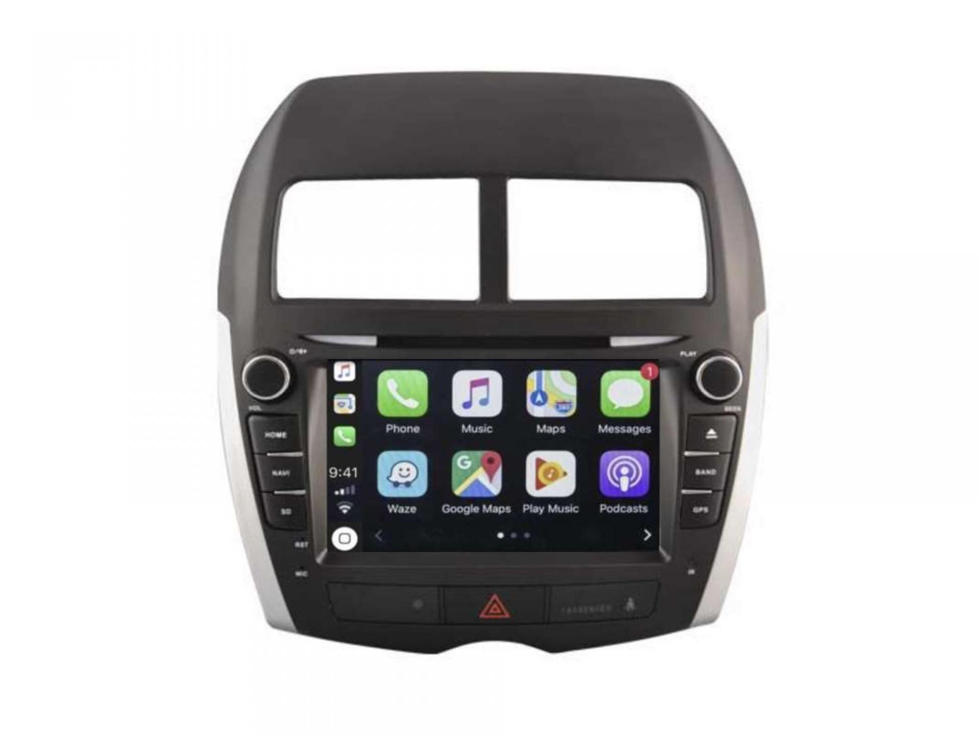 Peugeot 4008 mitsubishi asx gps carplay android auto gps bluetooth 7 1
