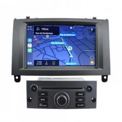 Autoradio Android tactile GPS Bluetooth Peugeot 407 de 2004 à 2010 + caméra de recul