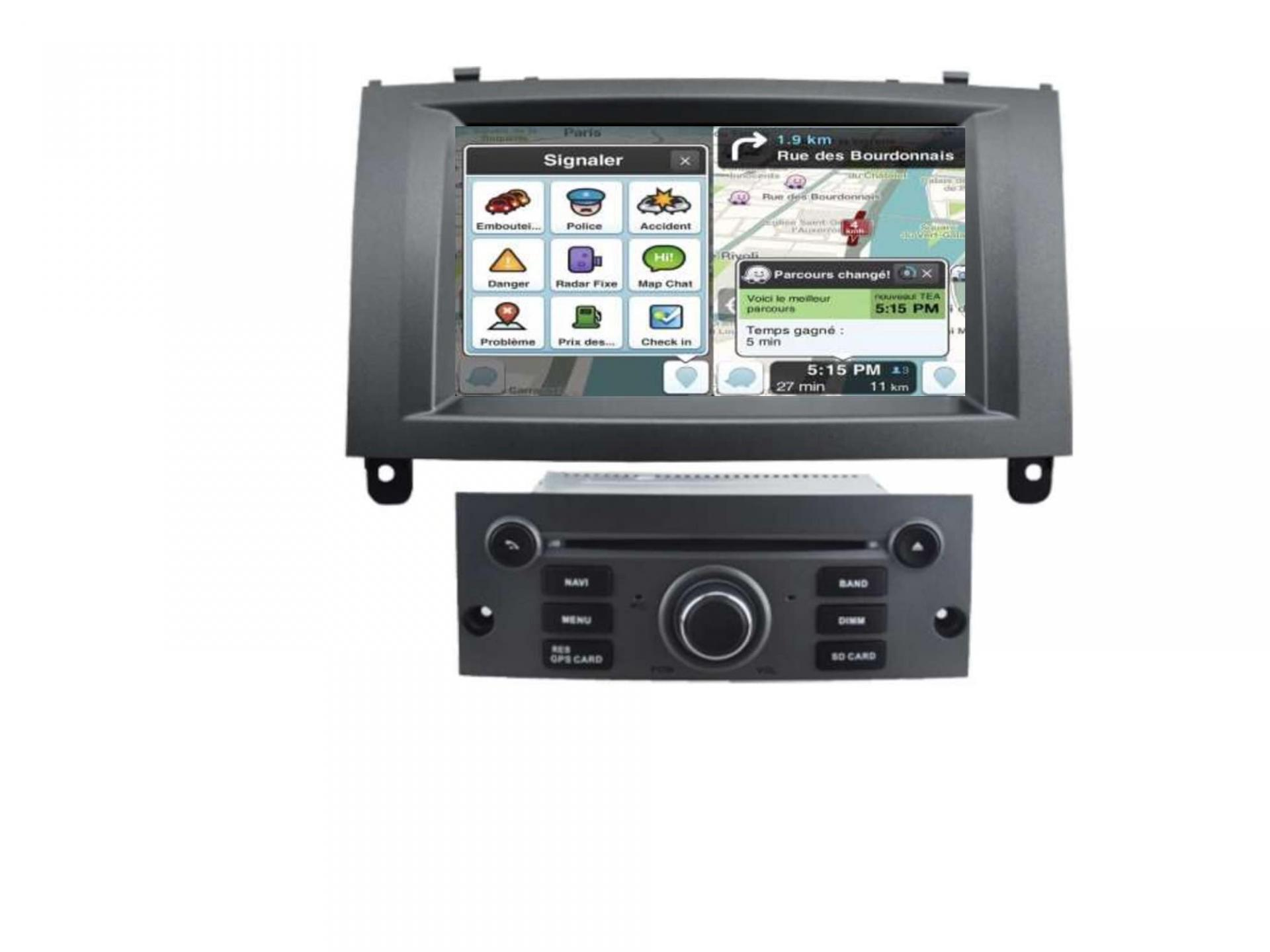 Peugeot 407 autoradio gps carplay android auto gps bluetooth 8