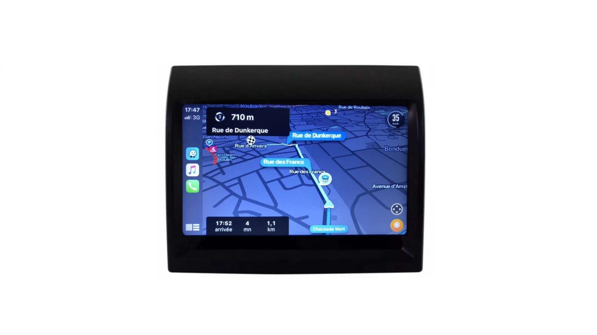 Peugeot boxer autoradio gps bluetooth android auto carplay camera de recul commande au volant3