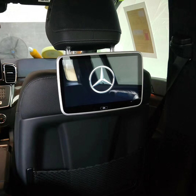 Plug and play car dvd player headrest monitor for mercedes e class 2018 android back seat jpg 640x640