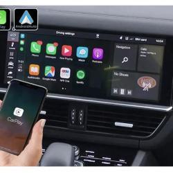 Boîtier Apple Carplay & Android Auto sans fil pour Porsche Cayenne depuis 2019