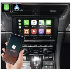 Boîtier Apple Carplay & Android Auto sans fil pour Porsche 911, Cayman et Boxster de 2012 à 2018