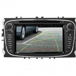 Autoradio tactile GPS Bluetooth standard Ford Focus, C-Max, S-Max Galaxy et Mondeo + caméra de recul