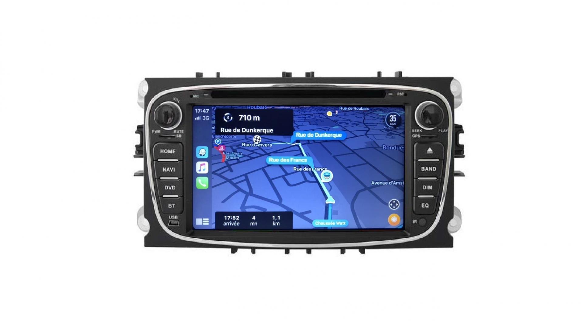 S max galaxy mondeo focus autoradio gps bluetooth android auto carplay camera de recul commande au volant4