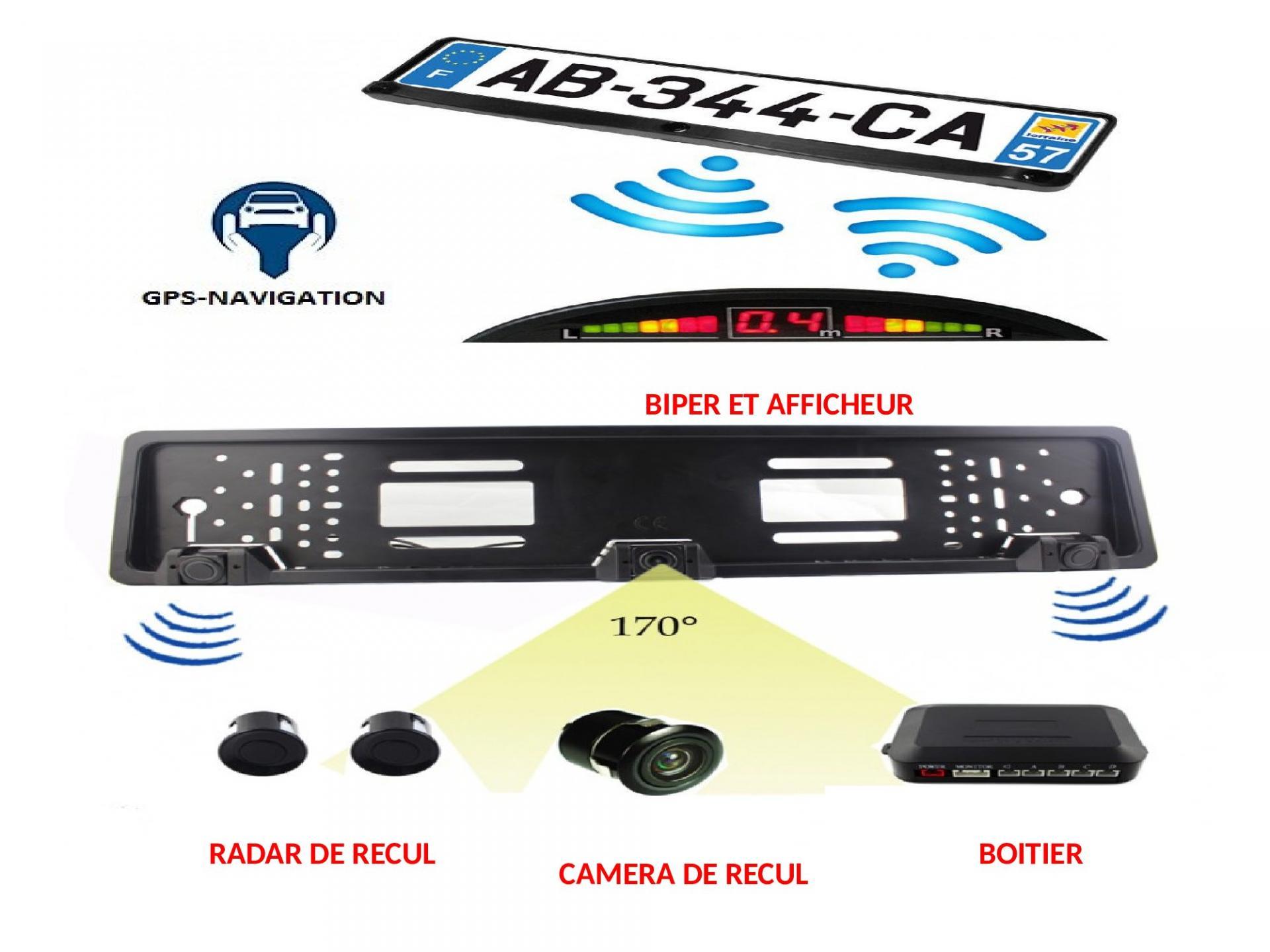 Sans fil wifi cadre de plaque d immatriculation camera de recul de recul radar de recul vision nocture 2