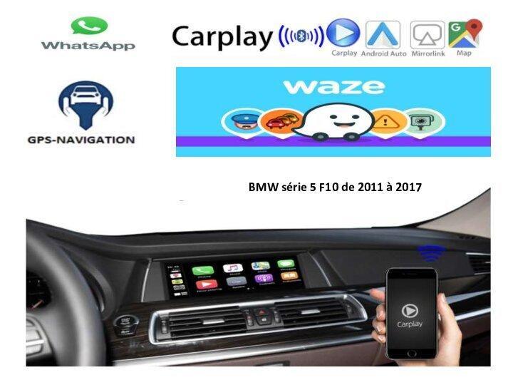 Serie 5 f10 bmw f20 21 carplay android auto gps autoradio i3 x3 m3 m5 x1 f48 x2 f39 2010 2011 2012 2013 2014 2015 2016 2017 2018 2019 308 408 audi a3 a4 a6 c5 c4 ds4 e84 camera de