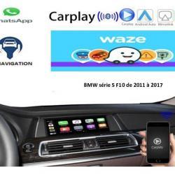 Boîtier Apple Carplay & Android Auto sans fil pour BMW série 5 F10 de 2011 à 2017