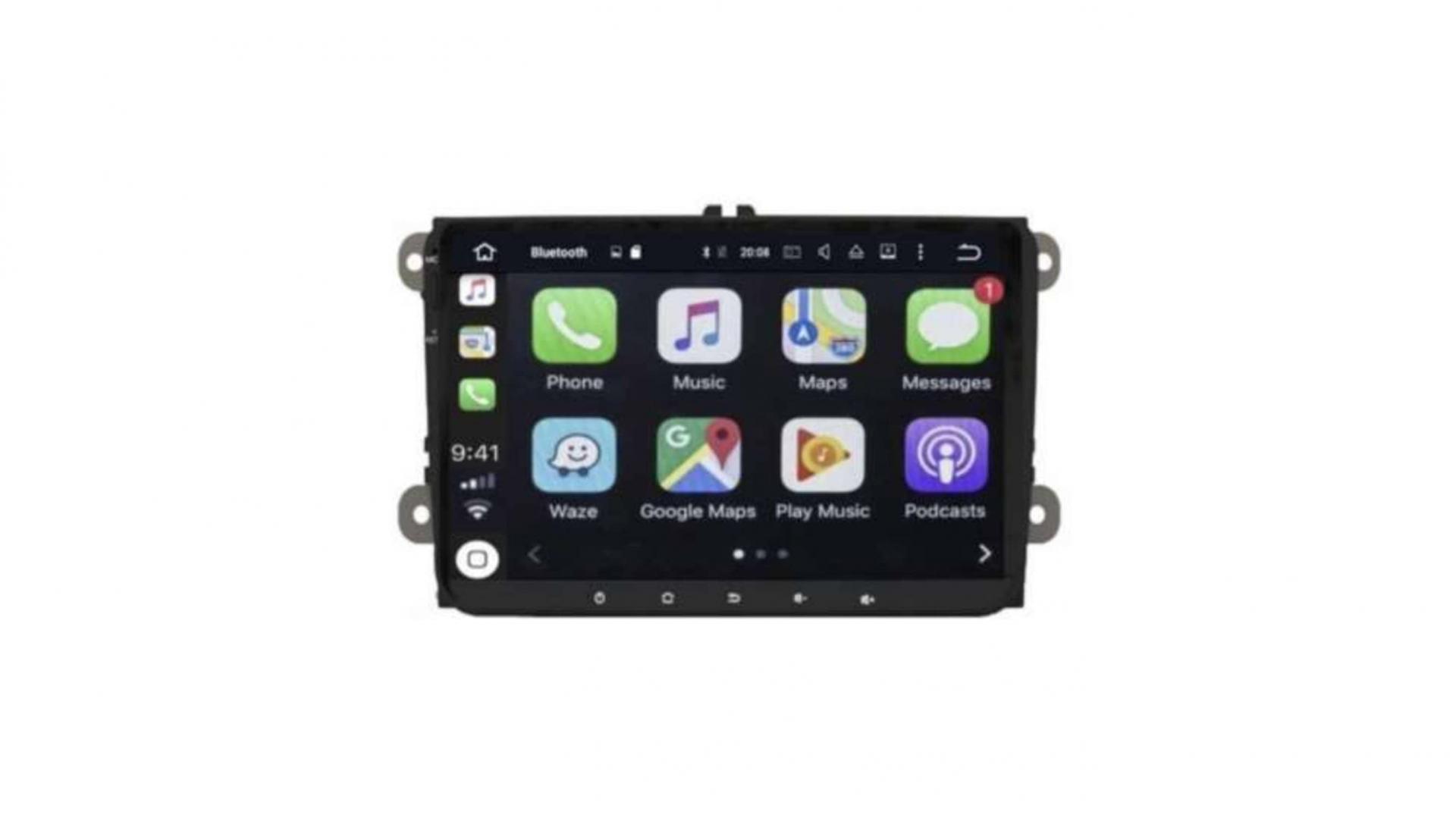 Skoda skoda octavia yeti autoradio gps bluetooth android auto carplay camera de recul commande au volant