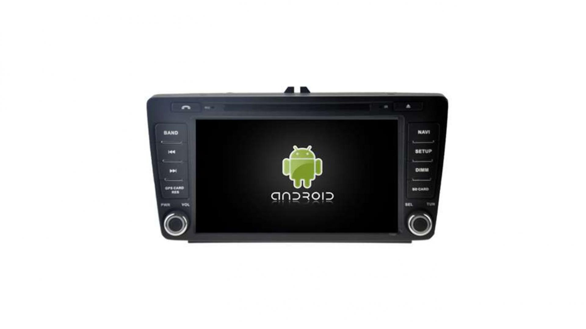 Skoda skoda octavia yeti autoradio gps bluetooth android auto carplay camera de recul commande au volant 00001
