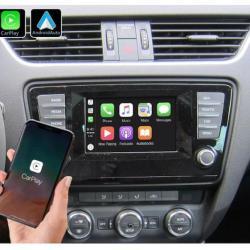 Boîtier Apple Carplay & Android Auto sans fil pour Skoda Octavia de 2013 à 2020