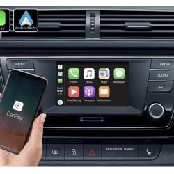 Boîtier Apple Carplay & Android Auto sans fil pour Skoda Fabia à partir de  2014