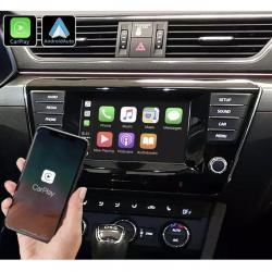 Boîtier Apple Carplay & Android Auto sans fil pour Skoda Superb 2015 à 2019