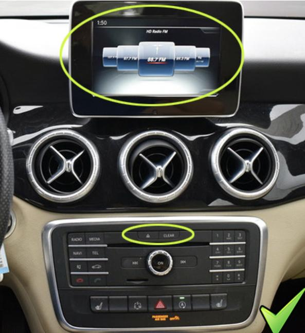 Systeme apple carplay android auto sans fil pour mercedes classe a gla et cla de 2013 a 2019 3