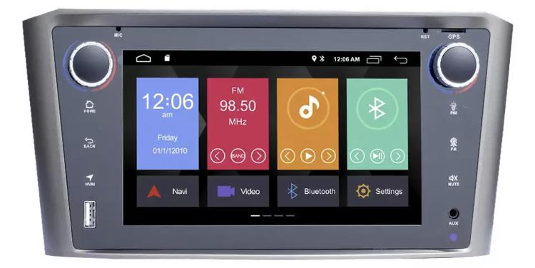 Toyota avensis autoradio gps carplay android auto bluetooth wifi
