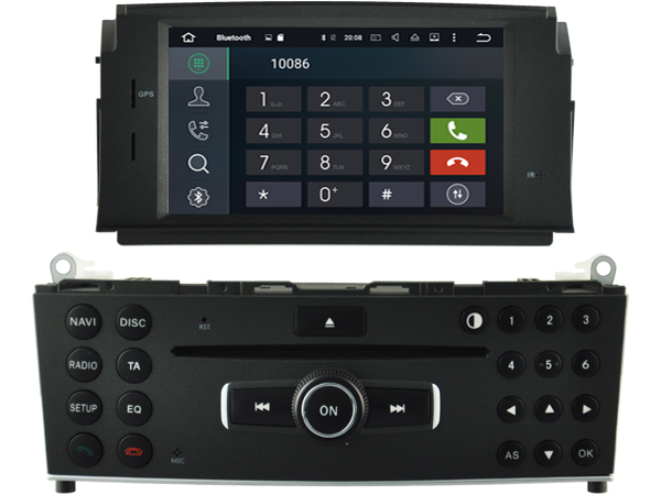 autoradio andro d gps bluetooth mercedes c w204 2007 2011 camera de recul. Black Bedroom Furniture Sets. Home Design Ideas