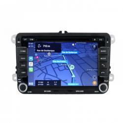 Autoradio Android tactile GPS Bluetooth VW Golf 5&6,Touran,Tiguan,Passat,Transporter T5&T6,Polo,Scirocco,Beetle et EOS + caméra