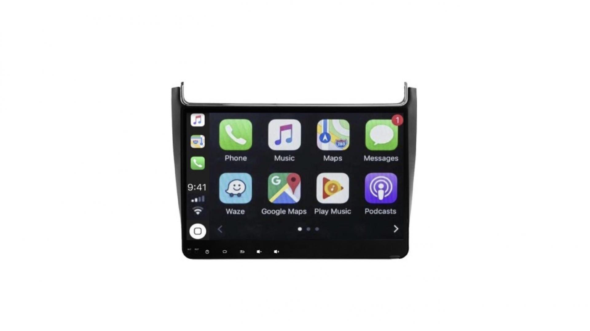Vw polo autoradio gps bluetooth android auto carplay camera de recul commande au volant2